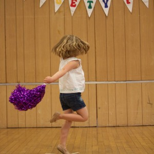 Who doesn't dance with a pom pom!
